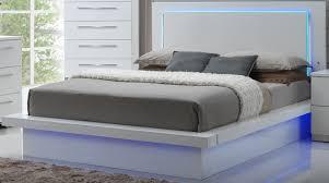 New Classic Sapphire High Gloss White Laminate Platform Bedroom Set ...