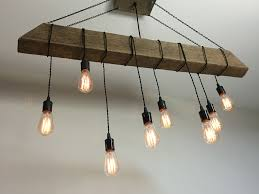 reclaimed barn beam light fixture bar restaurant home edison bulb rustic modern