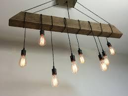 reclaimed barn beam light fixture bar restaurant home edison bulb rustic