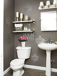 gray powder room