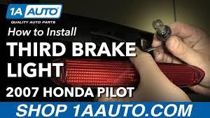 2006 Honda Pilot Brake Light Bulb Replacement How To Replace Third Brake Light Assembly And Bulb 03 08 Honda Pilot