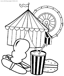 Circus Printables Circus Clowns Color Page Coloring Pages For