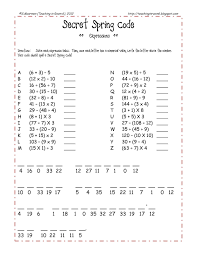 free spring themed order of operations review sheet quick fun and great to