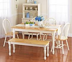 Brilliant Amazon Com White Dining Room Set With Bench This Country