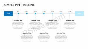 Timeline Powerpoint Slide Simple Ppt Timeline Pslides