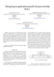 System On Chip Design Flow Pdf Designing An Application Specific System On Chip Soc