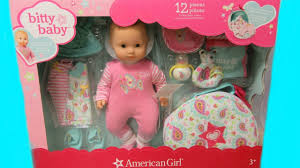 american girl bitty baby doll set costco unboxing changing by bitty baby channel you