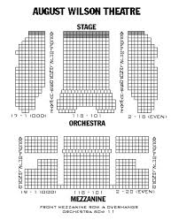 Meticulous August Wilson Theatre Seating Chart View Seating