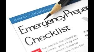 Emergency List My Personal 2016 Emergency Preparedness List