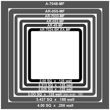 Aluminum Round Tube Size Chart Telescoping Aluminum Tubing Eagle Mouldings