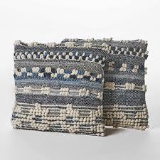 Christopher Knight Home Clara Wool and Denim <b>Pillows</b>, <b>2</b>-<b>Pcs</b> Set ...