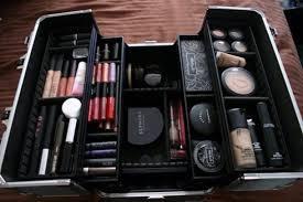 bag makeup bag make up mac cosmetics silver blue ysl pigment cute sweet box