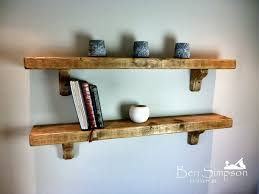 charming rustic wooden shelf chunky mantel custom timber pine image 6 of 21 to enlarge