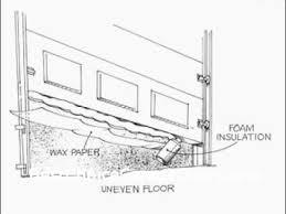 garage door seal for uneven concrete astonishing bottom floor taraba home review decorating ideas 20