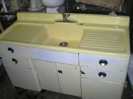antique single bowl double drainboard kitchen sink