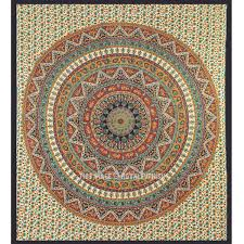 queen red psychedelic bohemian hippie indian tapestry wall hanging