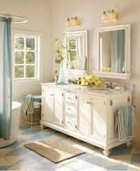 small country bathrooms. Wonderful Bathrooms Classic Blue Country Bathroom From Pottery Barn Throughout Small Bathrooms C