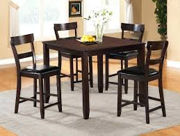 pub height dining table furniture counter high bar and chairs set silver round kitchen sets