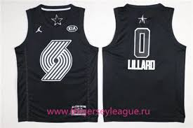 Black Damian Game Portland Trail Nba Swingman Lillard Jersey All-star Blazers 2018 Men's 0