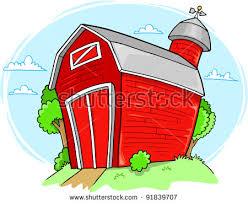 farm barn clip art. Red Farm Barn Building Vector Illustration Clip Art