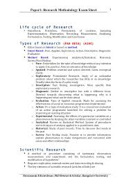 Research Paper Example Interesting Paper 44 Phd Course Work Research Methodology Exam