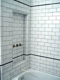 subway tile shower niche. Plain Tile Subway Tile Shower Niche White  Bathrooms With In Subway Tile Shower Niche