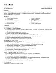 Shift Manager Resume Best Hourly Shift Manager Resume Example LiveCareer 4
