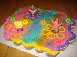 Spongebob Cupcake Cake 36 Banana Cream Filled Cupcakes Flickr