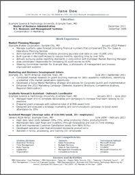 Mba Internship Resume Sample Topshoppingnetwork Com
