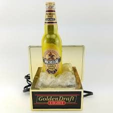 Michelob Golden Draft Light Where To Buy Michelob Golden Draft Light Beer Bottle On Ice Vintage Lamp