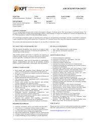 java developer job description. resume sample responsibilities ...