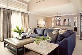 awesome modern living room decorating ideas with blue leather sofa blue dark trendy living room