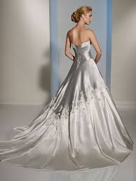 wedding dress space light silver gray colored bridal gown lace