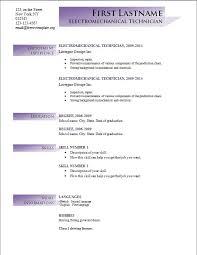 ... Free cv resume template #194 ...