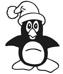 Small Picture Penguin Coloring Page Penguin With Santa Hat