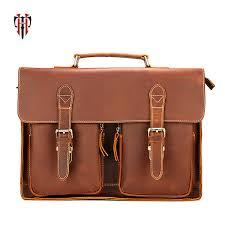 <b>Tianhoo</b> Genuine Leather Men Bags <b>Vintage</b> Crazy Horse Leather ...
