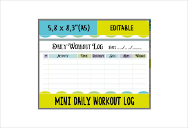 Daily Workout Journal Workout Log Template 14 Free Word Excel Pdf Vector Eps