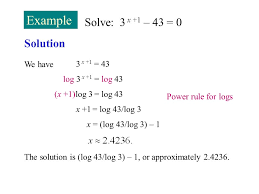 example solve 3 x 1 43 0 solution we have 3 x