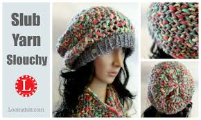 Loom Knitting Hat Patterns Adorable How To LOOM KNIT A Hat Slouchy Pattern Project Figure 48 Stitch