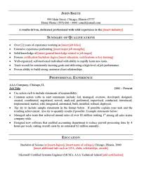 general labor resume layout
