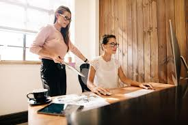 office furniture women. Download Creative Business Women At The Office Desk Stock Image - Of Occupation, Females Furniture M