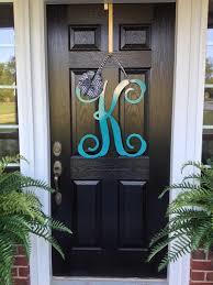 front door lettersInitial monogram front door wreath  from housesensations on Etsy