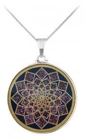 flower of life pendant 18 carat gold