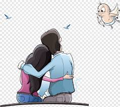 couple with angel ilration cartoon