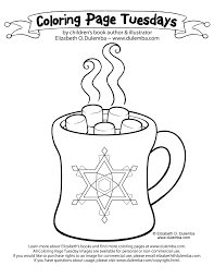 Small Picture dulemba Coloring Page Tuesdays Hot Chocolate