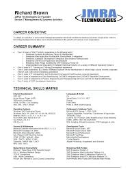 Objectives For Resume Career Objectives Resume Example Com Resume