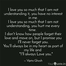 I Love You So Much That I Quotes Writings By Vijeta Ghosh