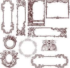 floral vintage frames design vintage frame a13 design