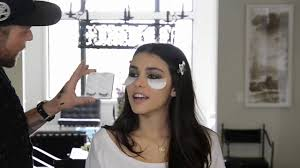 madison beer gets her make up done for a photo shoot