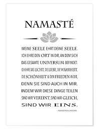 Premium Poster Yoga Namasté